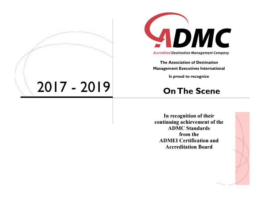 on the scene ADMC certification
