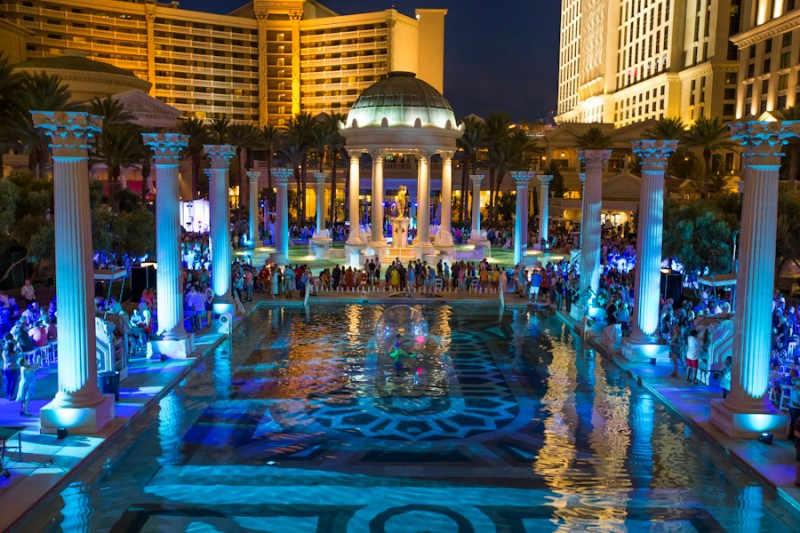 corporate reception at garden of gods pool caesars palace las vegas