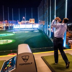 golf into the strip!